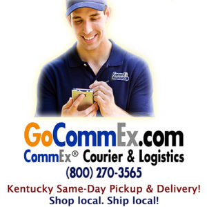 CommEx Courier & Logistics - pickup and delivery in Kentucky, including Bardstown, Berea, Cynthiana, Elizabethtown, Frankfort, Georgetown, Lexington, London, Louisville, Morehead, Nicholasville, Richmond, Versailles, Winchester, and all of Kentucky.